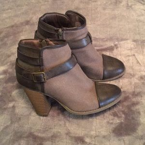 ADORABLE DISTRESSED LOOKING ANKLE BOOTIES